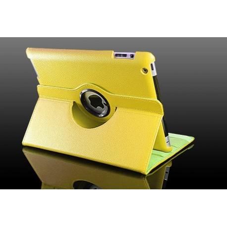 Gul læder cover til iPad 2, iPad 3, iPad 4