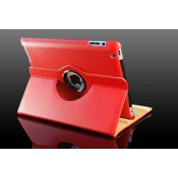 Rødt læder cover til iPad 2, iPad 3, iPad 4