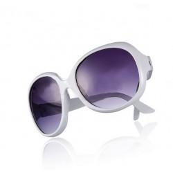 Hvide solbriller med stort look