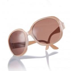 Beige solbriller med stort look