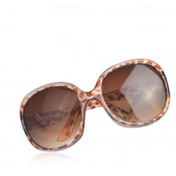 Leopard solbriller med stort look