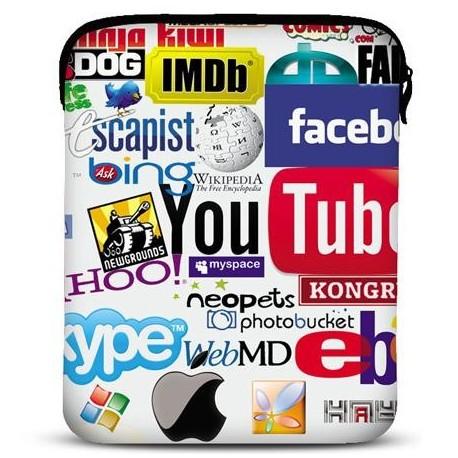 Neopren cover til alle iPad modeller - model: Internet