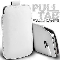 Hvid Pull Tab cover til Iphone