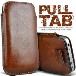 Brun Pull Tab cover til Iphone