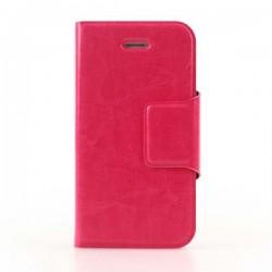 Pink iPhone 6 Plus flip cover med plads til kreditkort