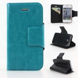 Turkis iPhone 6 Plus flip cover med plads til kreditkort