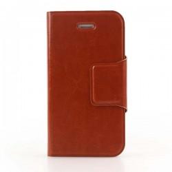 Brun iPhone 6 Plus flip cover med plads til kreditkort