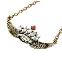 Halskæde med krone med vinger