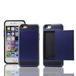 Navy cover med plads til kreditkort til iPhone 5, 5S, SE