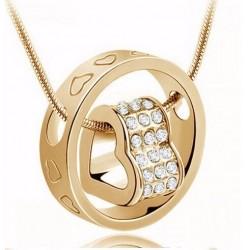 Halskæde hjerte - guld