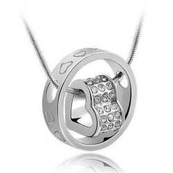 Halskæde hjerte - sølv