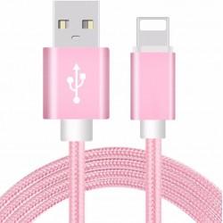 Lyserød kabel til iPhone