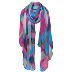 Tøklæde i flotte farver (blå / pink)