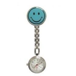 Sygeplejerske ur med blå smiley