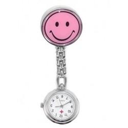 Sygeplejerske ur med pink smiley