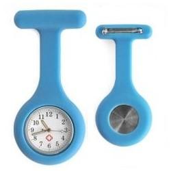 Sygeplejerske ur i lys blå silikone