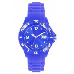 Flot mørk blå ur med datovisning