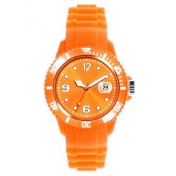 Flot orange ur med datovisning