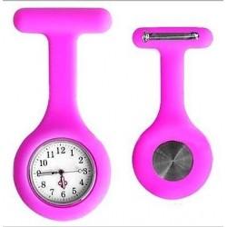 Sygeplejerske ur i pink silikone