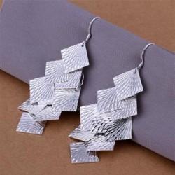 Sølv øreringe med blade