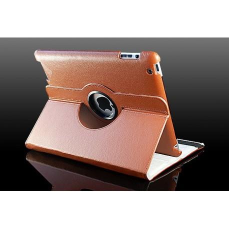 Brunt læder cover til iPad 2, iPad 3, iPad 4