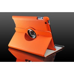 Orange læder cover til iPad 2, iPad 3, iPad 4