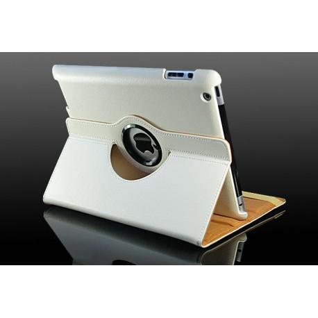 Hvid læder cover til iPad 2, iPad 3, iPad 4