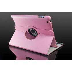 Lyserød læder cover til iPad 2, iPad 3, iPad 4