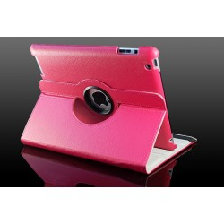 Pink læder cover til iPad 2, iPad 3, iPad 4