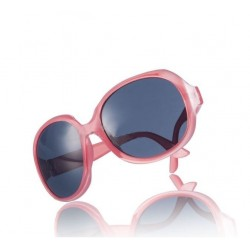 Rosa solbriller med stort look