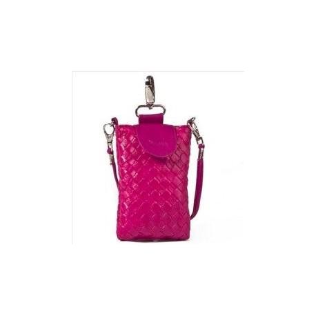 Lækker pink læder mobiltaske