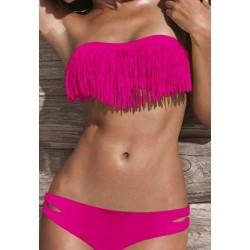 Pink frynse bikini