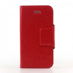 Rød flip cover med plads til kreditkort