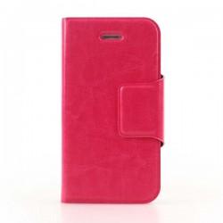 Pink flip cover med plads til kreditkort