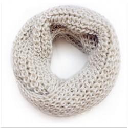 Tubetørklæde i hvid