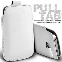 Hvid Pull Tab cover til Iphone