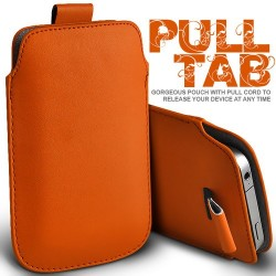 Orange Pull Tab cover til Iphone