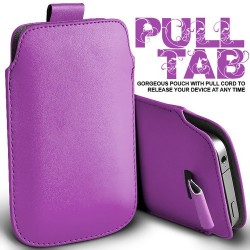 Lys lilla Pull Tab cover til Iphone 5
