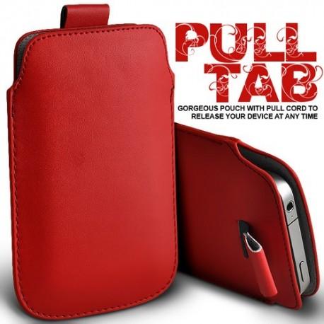 Rød Pull Tab cover til Iphone