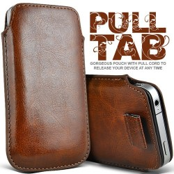 Brun Pull Tab cover til Iphone 5