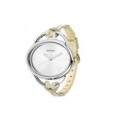 Elegant guld ur med læderrem