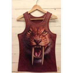Løve med brun print