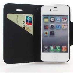 Sort iphone 5 flip cover med plads til kreditkort