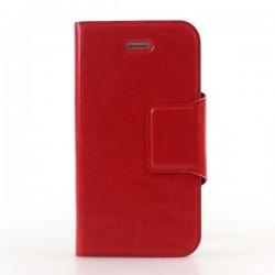 Rød iPhone 6 Plus flip cover med plads til kreditkort