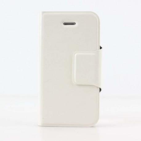 Hvid iPhone 6 Plus flip cover med plads til kreditkort