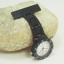 Sort Quartz Sygeplejerske ur