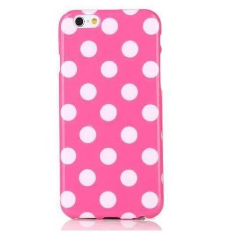 iPhone 6 Plus Polka prikker - Lyserød