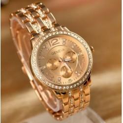 Geneva rosa guld ur med similisten