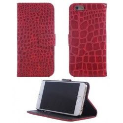 Rød iPhone 6 cover i slangeskindslook