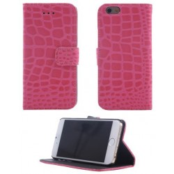 Pink iPhone 6 cover i slangeskindslook